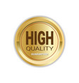 high quality guaranteed golden medal seal isolated vector image