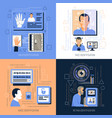 identification technologies design concept vector image