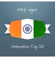 India Independence Day realistic Badge vector image
