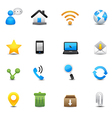 internet and web icons set vector image vector image