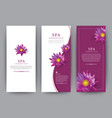 lotus flower flora banner for hotel salon beauty vector image vector image
