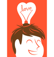 Love lightbulb in shape of heart vector image vector image