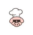 master chef pig pork bacon theme cartoon vector image vector image