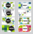 memphis background style design template vector image