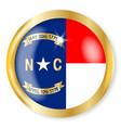 north carolina flag button vector image