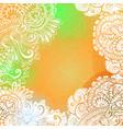 orange romantic background for meditation design vector image