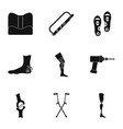 orthopedic surgery icon set simple style vector image vector image