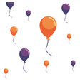 party balloons decoration background vector image