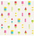 Popsicle seamless pattern