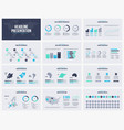 presentation slides business template vector image vector image