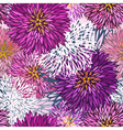 Seamless hand-drawn aster pattern vector image vector image