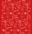 seamless texture with outline christmas holiday vector image vector image