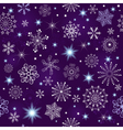 Seamless violet christmas pattern vector image vector image