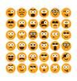 set different smiling icons vector image vector image