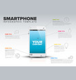 smart phone infographic template vector image vector image