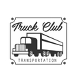 square plate with nails heavy trucks company club vector image vector image