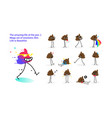 stock shit a set goat emotions icons emoji vector image vector image