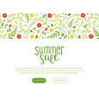 summer sale landing page with beautiful flowers vector image vector image