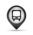 symbol bus icon pin vector image