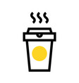 take away coffee cup icon vector image