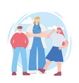 thank you essential workers female doctor vector image