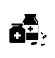 two bottle pills icon for element design vector image vector image