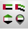 uae flag design set vector image