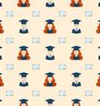 Seamless Graduation Celebration Educational vector image