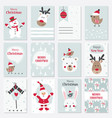 set of christmas and new year cards vector image