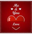 Valentines Day Card - Big Heart with inscription vector image