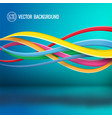 abstract bright dynamic template vector image vector image