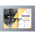 Abstract Brochure design template in A4 size vector image