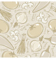 Background with tomato onions pepper vector image vector image