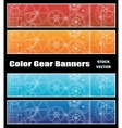 Banners with gears vector image vector image