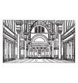 baths caracalla ground plan vintage vector image vector image