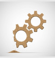 broken gears made of sand vector image vector image