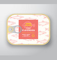 canned fish label template abstract fish vector image vector image