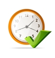 Clock icon and check mark vector | Price: 1 Credit (USD $1)