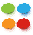 colorful speech bubble collection with white vector image vector image
