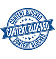 content blocked round grunge ribbon stamp vector image vector image