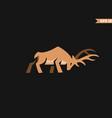 deer body logo vector image
