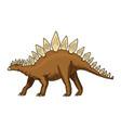 dinosaur stegosaurus fossils prehistoric vector image vector image