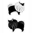 dog silhouettes vector image