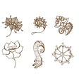 doodle flowers vector image vector image