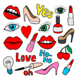 Fashion patch badges vector image vector image