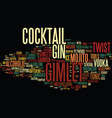 gimlet word cloud concept vector image vector image