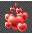 Group of Hearts flying up vector image vector image