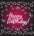 happy birthday gift card vector image vector image
