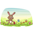 happy easter greating card vector image