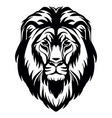 head mascot lion head isolated on white vector image